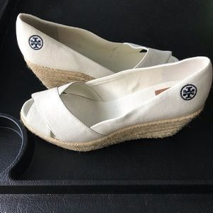 Tory Burch Wedges! Never been worn!